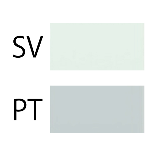 シルバーとプラチナの色