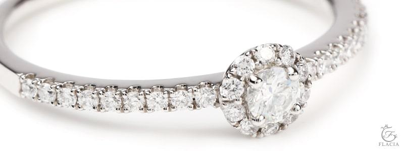プレミアム-ヘイローダイヤモンドリング